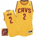 Jersey or de NBA Kyrie Irving authentiques hommes - Adidas Cleveland Cavaliers & 2 Alternate autographié