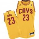 Jersey or de NBA LeBron James authentiques hommes - Adidas Cleveland Cavaliers & remplaçant 23