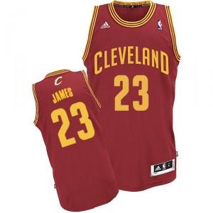 Maillot rouge vin NBA LeBron James Swingman masculine - Adidas Cleveland Cavaliers & route 23
