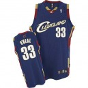 Jersey bleu marine de NBA Shaquille o ' Neal Throwback authentiques hommes - Adidas Cleveland Cavaliers & 33