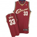 Maillot rouge NBA Shaquille o ' Neal Throwback authentique masculin - Adidas Cleveland Cavaliers & 33