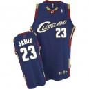 Jersey bleu marine de NBA LeBron James authentiques hommes - Adidas Cleveland Cavaliers 23