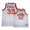 Maillot blanc NBA Shaquille o ' Neal Throwback authentique masculin - Mitchell et Ness Cleveland Cavaliers & 33 SVCC