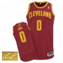 NBA Kevin Love maillot rouge vin masculine authentique - Adidas Cleveland Cavaliers 0  route autographié