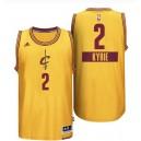 Cleveland Cavaliers 2 Kyrie Irving 2014 le jour de Noël grand Logo Swingman maillot jaune