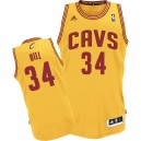 Jersey or de Tyrone Hill NBA authentiques hommes - Adidas Cleveland Cavaliers & remplaçant 34