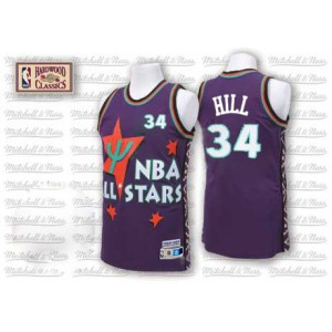 NBA Tyrone Hill Jersey violet Throwback authentique masculin - Adidas Cleveland Cavaliers & 1995 34 All Star