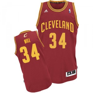 Maillot rouge vin NBA Tyrone Hill Swingman masculine - Adidas Cleveland Cavaliers & route 34
