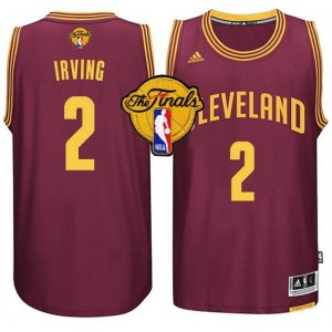 Adidas Cleveland Cavaliers 2 Kyrie Irving nouveau Swingman Champions route maillot rouge hommes