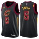 Hommes 2017-18 saison Jr Smith Cleveland Cavaliers &5 Déclaration Noir Swing maillots