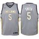 Enfants 2017-18 saison Jr Smith Cleveland Cavaliers &5 City Edition Gris Swinger maillots