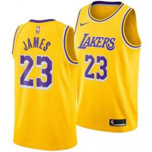 Los Angeles Lakers Lebron James Nike NBA hommes icône Échangiste Maillot