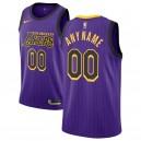 Hommes Los Angeles Lakers Nike Violet 2018/19 Échangiste Custom Maillots-Ville Édition