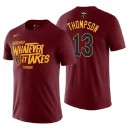 T-shirt Cleveland Cavaliers pour hommes ^ 13 Tristan Thompson Maroon NBA Playoffs Mantra Legend