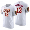 T-shirt en jersey avec nom et numéro Tristan Thompson White Association ^ 13 pour hommes Cleveland Cavaliers