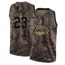 les Lakers 23# LeBron James Camo NBA swingman Realtree collection maillots