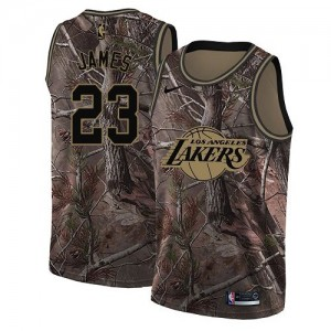 les Lakers 23 LeBron James Camo NBA swingman Realtree collection maillots