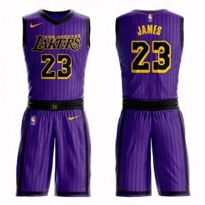LeBron James swingman Purple Maillot pour hommes: basketball Los Angeles Lakers &23 costume City Edition