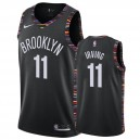 Hommes Brooklyn Nets &11 Kyrie Irving Basketball Maillot Noir