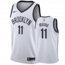 Hommes Kyrie Irving &11 Brooklyn Nets Blanc NBA Swingman Maillot