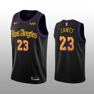 LeBron James Los Angeles Lakers Maillot Nike City édition