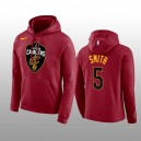 Cavaliers de Cleveland hommes &5 J.R. Smith rouge Club Logo Pull-over Hoodie