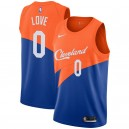Cleveland Cavaliers Kevin Love Maillot Nike Bleu City Édition Swingman