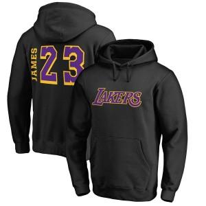 Fanatics de marque LeBron James à capuche noir balayage des Lakers de Los Angeles