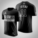 Brooklyn Nets Kyrie Irving 2020 NBA All-Star Jeu Official Logo Noir T-Chemise