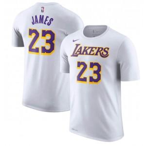 T-Chemise de performance Nike LeBron James Los Angeles Lakers blanc avec nom et numéro de joueur