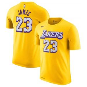 T-Chemise Nike LeBron James Los Angeles Lakers Gold 2019/20 City Edition Nom et numéro