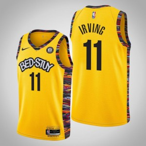 Nets 2019-20 Kyrie Irving City Maillot Jaune