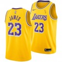 Los Angeles Lakers Lebron James Finals Champions Nike NBA hommes icône Échangiste Maillot