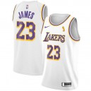 Nike LeBron James Finals Champions Los Angeles Lakers Maillot Blanc Swingman - Association Édition