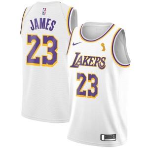 Nike LeBron James Finals Champions Los Angeles Lakers Maillot Blanc Swingman - Association Édition