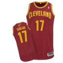 Maillot rouge vin de NBA Anderson Varejao authentiques hommes - Adidas Cleveland Cavaliers & route 17