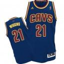 Jersey bleu marine de NBA Andrew Wiggins authentiques hommes - Adidas Cleveland Cavaliers & 21 CavFanatic