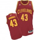 Maillot rouge vin Brad Daugherty NBA Swingman masculine - Adidas Cleveland Cavaliers & route 43